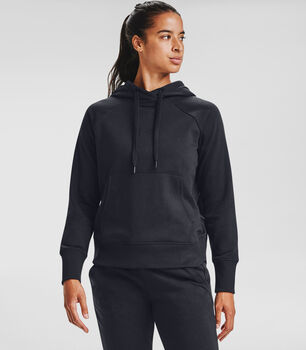 Under Armour Rival Fleece hoodie Dames Zwart