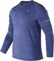 New Balance Seasonless longsleeve Heren Blauw