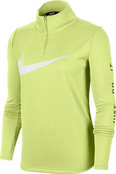 Nike Running 1/4-Zip longsleeve Dames Groen