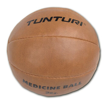 tunturi medicine ball synthetic leather 2kg Bruin