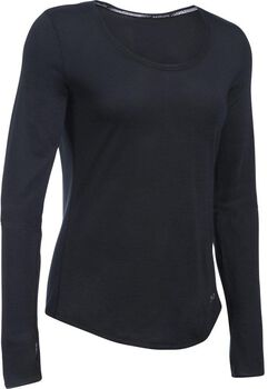 Under Armour Threadborne longsleeveshirt Dames Zwart