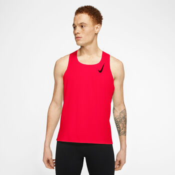 Nike AeroSwift top Heren Rood
