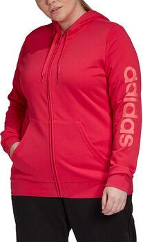 adidas Essentials Hooded Full Zip trainingsjack (Grote Maat) Dames Rood