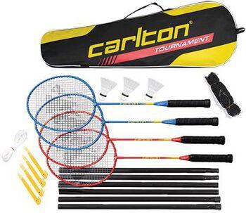 Carlton Tournament 4-player badmintonset Rood