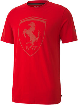 Puma Ferrari Style Big Shield shirt Heren Rood