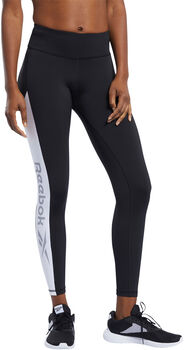 Reebok Workout Ready Logo legging Dames Zwart