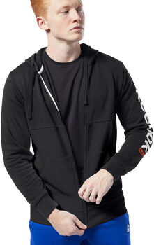 Reebok Training Essentials Linear Logo hoodie Heren Zwart