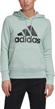 adidas Badge of Sport Pullover Fleece Hoodie Dames Groen