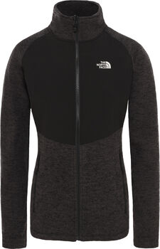 The North Face Arashi Overlay fleece Dames Zwart