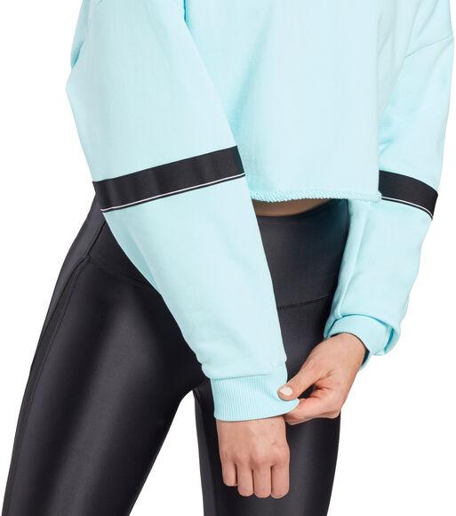 Studio Cropped French Terry Crew Sweatshirt