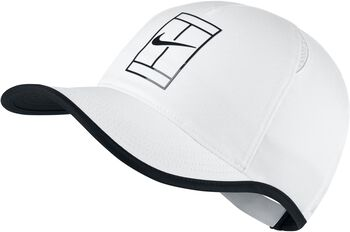 Nike Court AeroBill Featherlight Tennis cap Wit