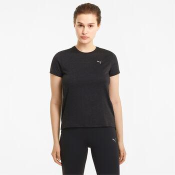 Puma Run Favourite Heather shirt Dames Zwart