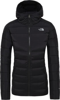 The North Face Stretch Down hoodie Dames Zwart