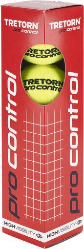 Tretorn - Pro Control 4-pack tennisballen - Unisex - Accessoires - Geel - 1SIZE