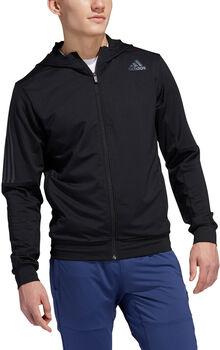 adidas AEROREADY 3-Stripes Cold Weather Knit hoodie Heren Zwart