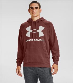 Under Armour Rival Fleece Big Logo hoodie Heren Rood