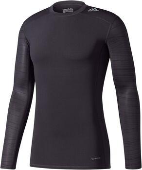 Adidas Techfit Base Print Longsleeve shirt Heren Zwart