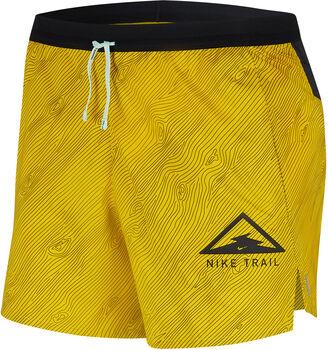 """Nike Flex Stride 5"""" Trail short Heren Geel"""
