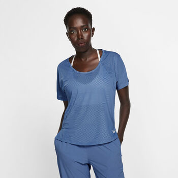 Nike Miler shirt Dames Blauw