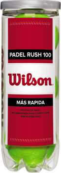 Wilson Rush 100 padelballen Geel