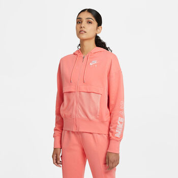 Nike Air Full Zip sweater Dames Rood