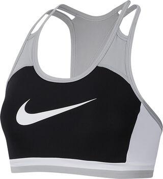 Nike Padded Logo sportbeha Dames Zwart