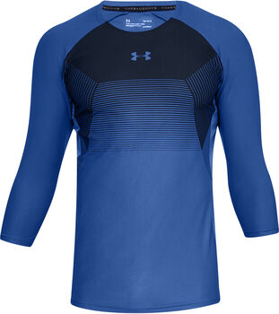 Under Armour Threadborne Vanish 3/4 shirt Heren Blauw