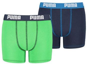 Puma Basic kids boxer (2 paar) Jongens Groen