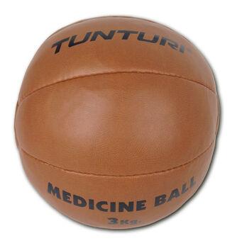 tunturi medicine ball synthetic leather 3kg Bruin