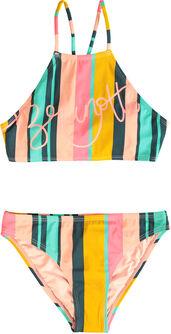 Camelia Stripe kids bikini