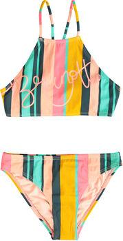 Brunotti Camelia Stripe kids bikini Meisjes Groen