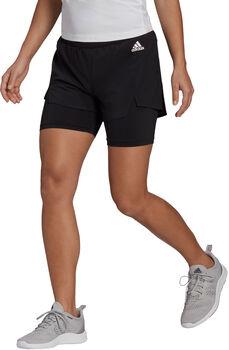 adidas Primeblue Designed To Move 2-in-1 Sport Short Dames Zwart