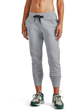 Under Armour Rival Fleece EMB broek Dames Grijs