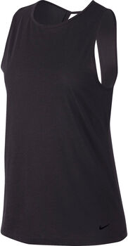 Nike Dry Studio Open Back top Dames Zwart