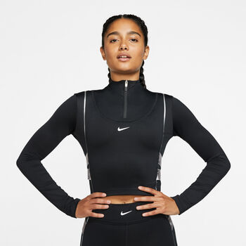 Nike Pro Hyperwarm sweater Dames Zwart