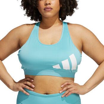 adidas Believe This Medium-Support Workout Logo beha (Grote Maat) Dames Groen