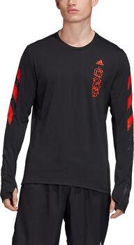 ADIDAS Fast Graphic shirt Heren Zwart