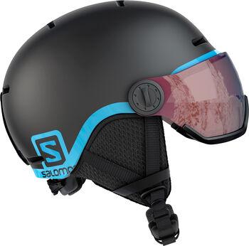 Salomon Grom Visor skihelm Jongens Zwart