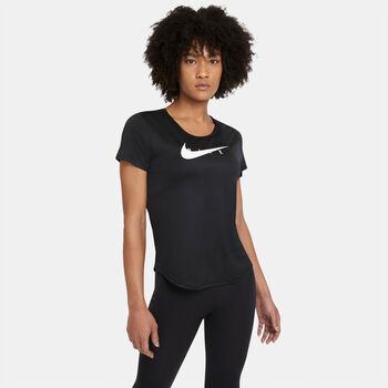 Nike Swoosh hardloopshirt Dames Zwart