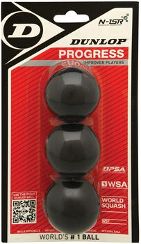 Dunlop Progress Blister squashballen Rood