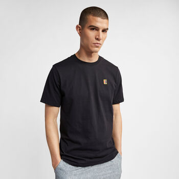 Nike Court Heritage shirt Heren Zwart