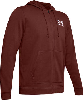 Under Armour Sportstyle Terry Full Zip vest Rood
