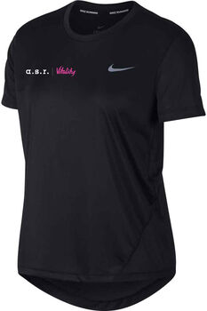 Nike a.s.r. Vitality Miler shirt Dames Zwart