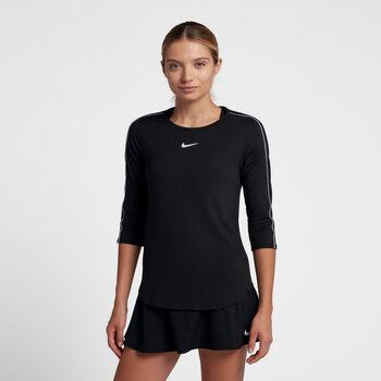 Nike Court shirt Dames Zwart