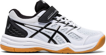 Asics Upcourt 4 PS indoorschoenen kids Jongens Wit