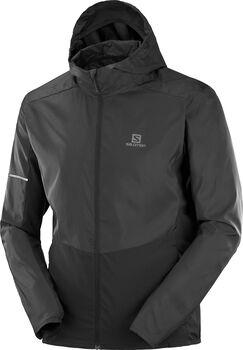 Salomon Agile Full Zip hoodie Heren Zwart