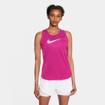 Nike Swoosh Run tanktop Dames Rood