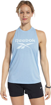 Reebok Workout Ready Supremium Big Logo top Dames Blauw