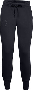Under Armour Rival Fleece Metallic joggingsbroek Dames Zwart