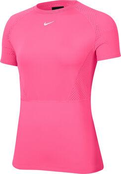 Nike Pro Mesh shirt Dames Rood